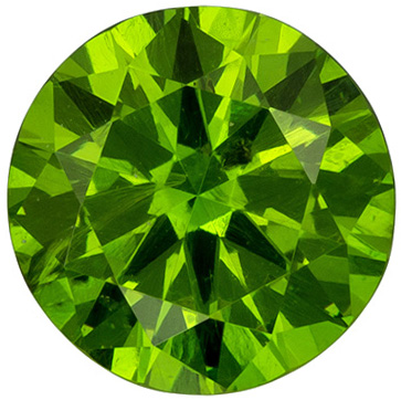 Beautiful Russia Demantoid Garnet Loose Gem in Round Cut, Intense Grass Green, 5 mm, 0.55 carats - SOLD