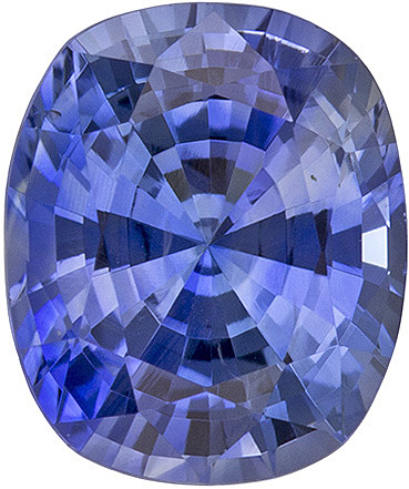 Beautiful Sapphire Loose Gem in Cushion Cut, Nice Blue, 6.4 x 5.3 mm, 1.07 carats