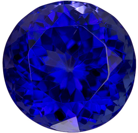 Beautiful Tanzanite Loose Gemstone in Round Cut in Rich Blue Purple Color in 10.3 mm, 5.33 carats