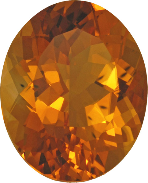 Beautiful Top Color Loose Citrine Gem in Oval German Cut, Rich Bright Golden Yellow Color in 19.2 x 16.3 mm, 18.64 carats