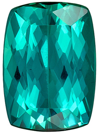 Very Fine Loose Blue Tourmaline Gemstone in Popular Cushion Cut in an Open Teal Blue Color,3.01 carats , 10 x 7.2 mm
