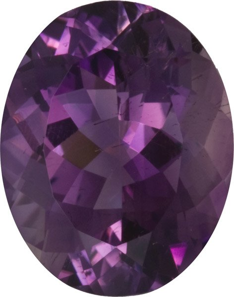 Beautiful Unheated Amethyst Faceted Oval Gem in Medium Rich Purple Color, German Cutting in 20.0 x 16.0 mm, 18.91 carats
