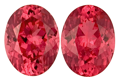 Beautiful Untreated Tanzanian Matched Spinel Gemstones for SALE - Very Well Matched, Luxury Color & Excellent Clarity -Oval Cut, 4.38 carats