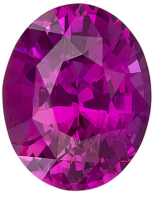 Beautiful Vivid Rick Pink Colored Ceylon Pink Sapphire - A Rare Find, Oval Cut, 7.3 x 5.8 mm, 1.29 carats