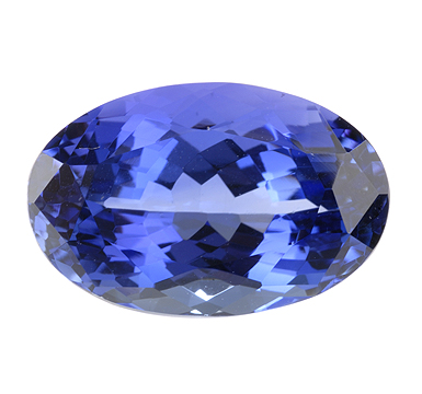 Beautifully Proportioned Intense Color Oval Tanzanite Gemstone 4.93 carats