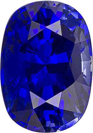 Beauty in Blue Ceylon Sapphire 6.8 x 4.8 mm, Cushion Cut, 1.16 carats