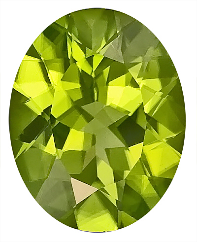 Beauty of a  Peridot Genuine Gem - Great Find! Oval Cut, 15.5 x 12.4 mm, 8.78 carats