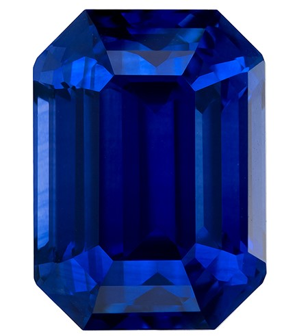 Beauty of an  Octagon Cut Genuine Blue Sapphire Gemstone, 6.77 carats, 11.42 x 8.31 x 6.93 mm with GIA Certificate, A Must Have Gem