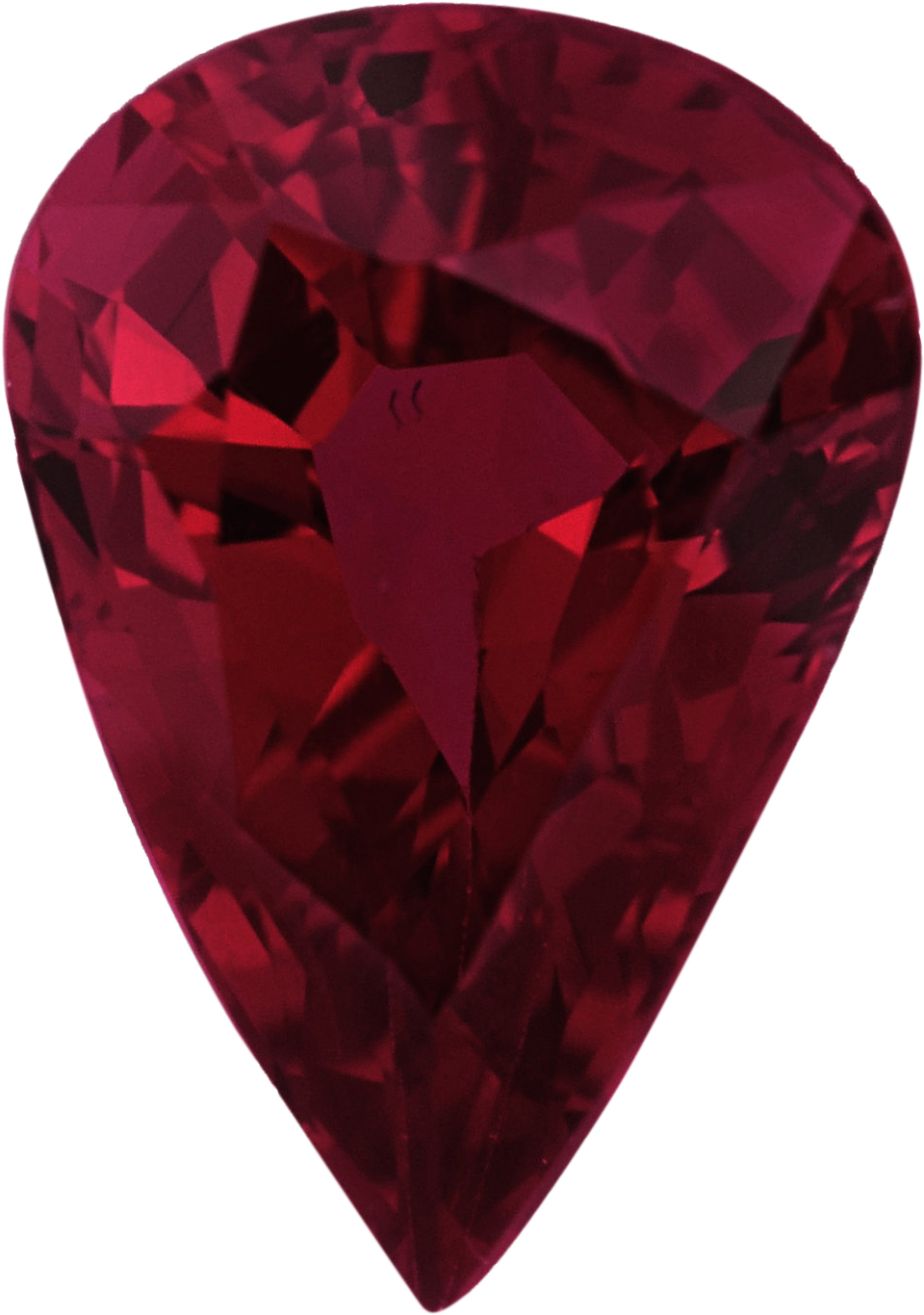 Best Pear Shape Loose Ruby Gem, Red Color, 6.80 x 4.82 mm, 0.76 carats
