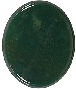 Best Priced Loose Natural Oval Shape Buff Top Bloodstone Real Quality Gemstone Grade AAA, 10.00 x 8.00 mm in Size