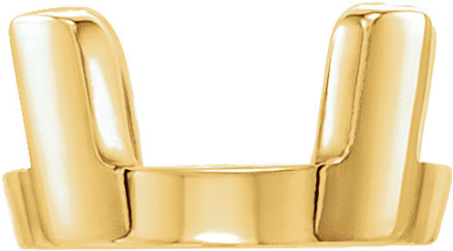 Best Selling 14kt Gold 4 Prong Low Base Setting for Round Gemstone Sized 2.00 mm - 8.60 mm