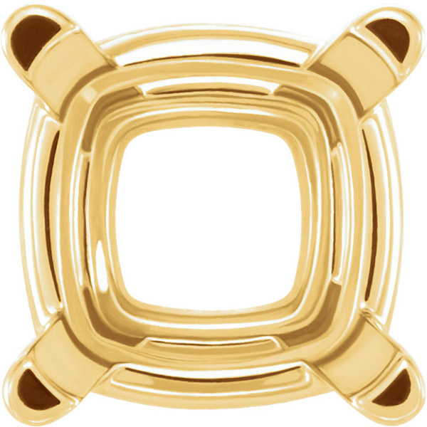 Best Selling 14kt Gold 4-Prong Wire Basket Setting for Antique Cushion Gemstone Sized 4.00 mm to 12.00 mm