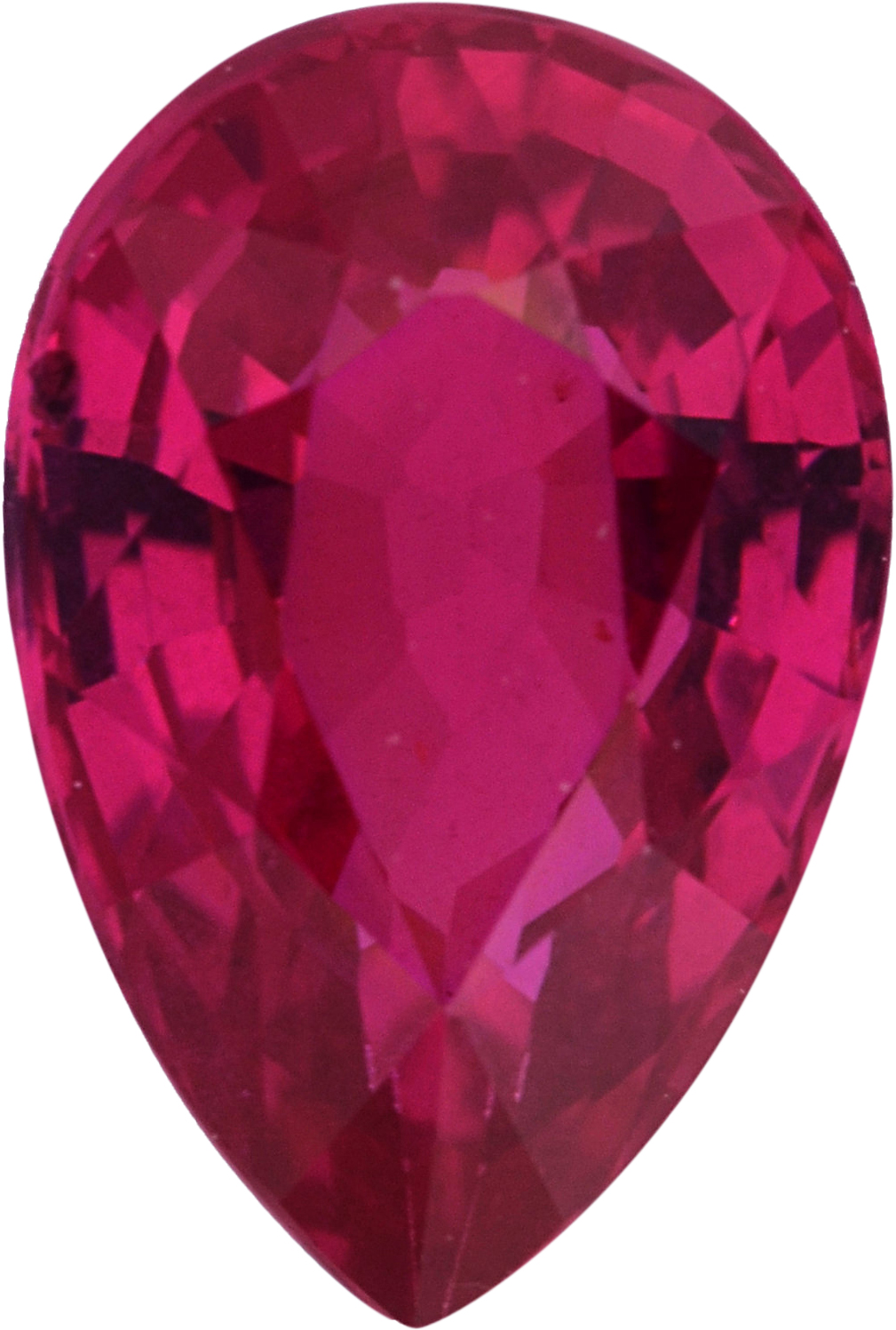 Best  Unheated Ruby Loose Gem in Pear Cut,  Purple Red, 7.20 x 4.84  mm, 1.02 Carats