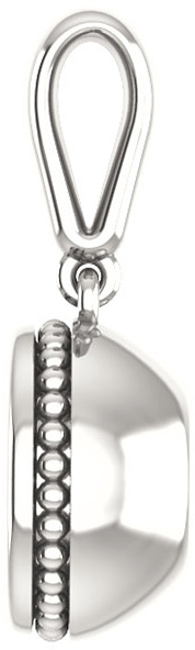 Bezel Set Soiltaire Pendant Mounting for Round Centergem Sized 4.10 mm to 15.00 mm - Customize Metal, Accents or Gem Type