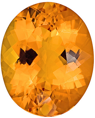 Big & Beautiful Citrine Gemstone With a Rich Golden Color - Clean & Bright, Oval Cut, 27.44 carats