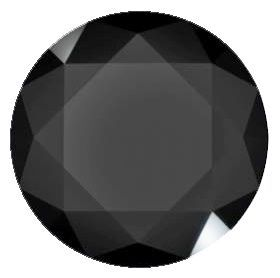 Black Spinel Round Cut in Grade AAA