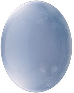 Blue Chalcedony Oval Cabochon Gemstones in Grade AAA