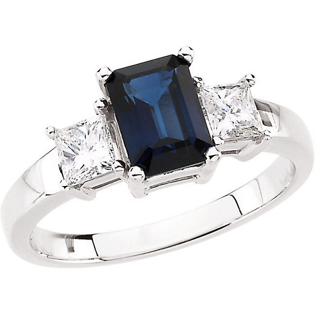 Surprise Her with  Blue Sapphire & Diamond Accented Ring