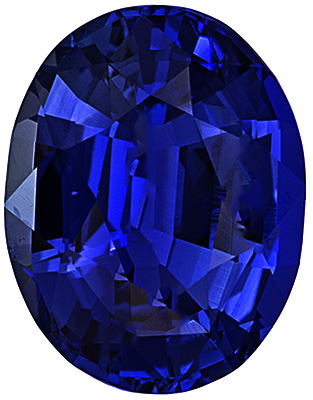 Faceted Loose Blue Sapphire Gem Stone, Oval Shape, Grade AA, 10.00 x 8.00 mm in Size, 3.75 Carats