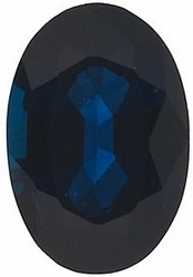 Gemstone Loose Blue Sapphire Stone, Oval Shape, Grade B, 8.00 x 6.00 mm in Size, 1.8 Carats