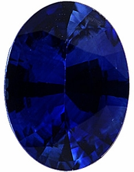 Loose Faceted Blue Sapphire Gemstone, Oval Shape, Grade A, 8.00 x 6.00 mm in Size, 1.8 Carats