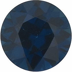 Loose Blue Sapphire Stone, Round Shape, Grade A, 4.50 mm in Size, 0.55 Carats