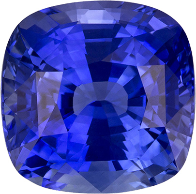 Blue Sapphire Natural Gemstone in Antique Square Cut, 7.6 x 7.5 mm, 2.58 Carats