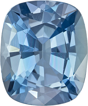 Blue Special Aquamarine Loose Gemfrom Madagascar in Cushion Cut, 12.4 x 10.3 mm, 4.92 Carats