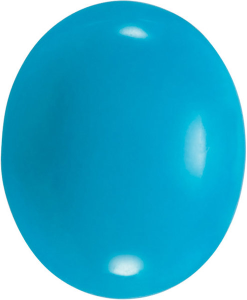 Genuine AA Grade Bluebird Turquoise Gemstone in Oval Cut, 6.00 x 4.00 mm