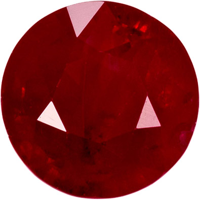 Bold Ruby Loose Gem in Round Cut, Vivid Rich Red, 5.90 mm, 1.20 carats