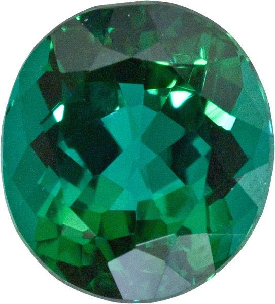 Brazilian Fine Loose Blue Green Tourmaline Oval Gem in Bright Bluish Green, 11.3 x 10.2 mm, 5.39 carats