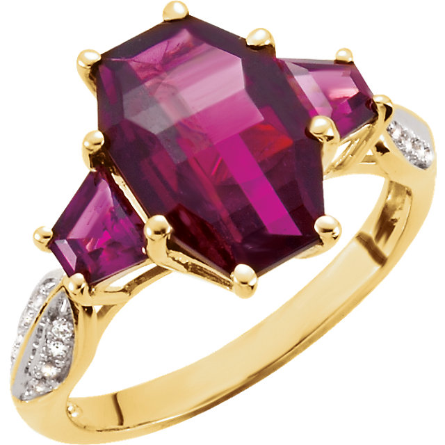 Brazilian Garnet & Diamond Accented Ring