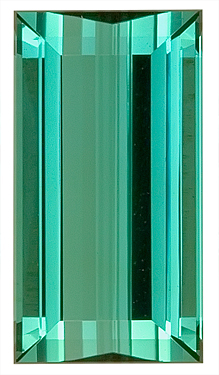 Breathtaking Blue Natural Tourmaline Gemstone for SALE,  Rectangle Cut, 13.6 x 7.3 mm, 4.99 carats