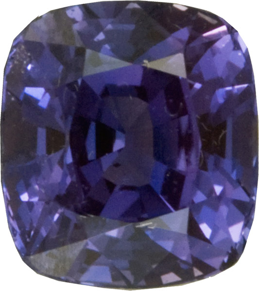 Bright Bluish Gray Purplish Sapphire Cushion Cut, Great Price for 12.4  x 10.2 mm, 6.16 carats