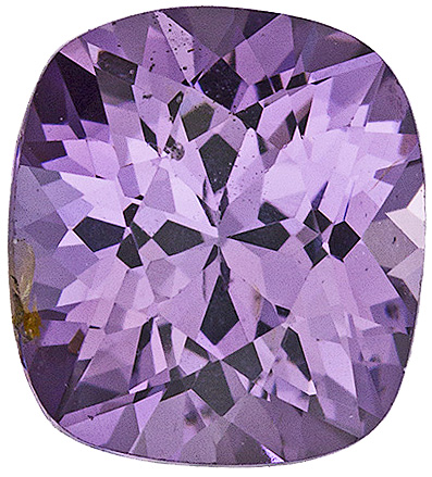Bright Lavender Purple Ceylon Spinel Gem in 7.2 x 6.5 mm, Cushion Cut, 1.6 carats