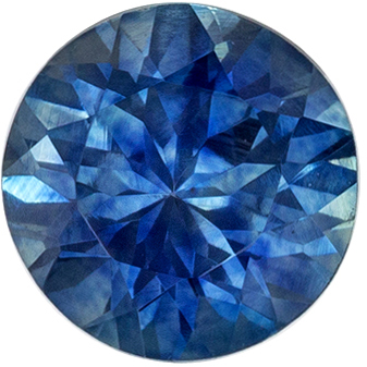 Bright & Lively Blue Green Sapphire Genuine Gem, Vivid Teal Blue, Round Cut, 5.4 mm, 0.8 carats