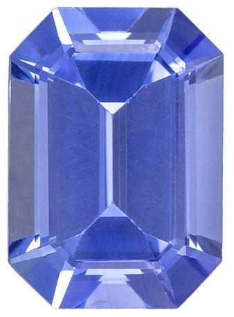 Natural  Blue Sapphire Gemstone, 1.04 carats, Emerald Shape, 7 x 5 mm, Amazing Gemstone - Low Price