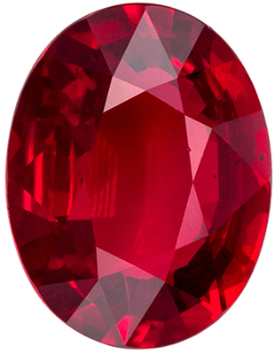 Bright & Lively  GIA Certified Ruby Genuine Gem, Pigeon's Blood Red, Oval Cut, 9.53 x 7.33 x 3.9 mm, 2.42 carats
