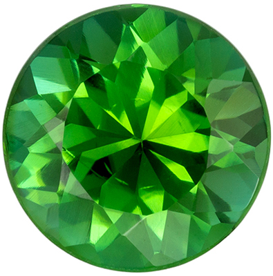 Bright & Lively Green Tourmaline Loose Gem in Round Cut, 8 mm, Open Mint Green, 1.73 carats