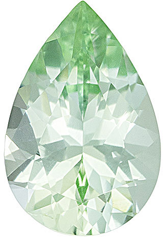 Bright & Lively Icy Mint Green Tourmaline, 11.7 x 7.7 mm, Pear Cut, 2.52 carats