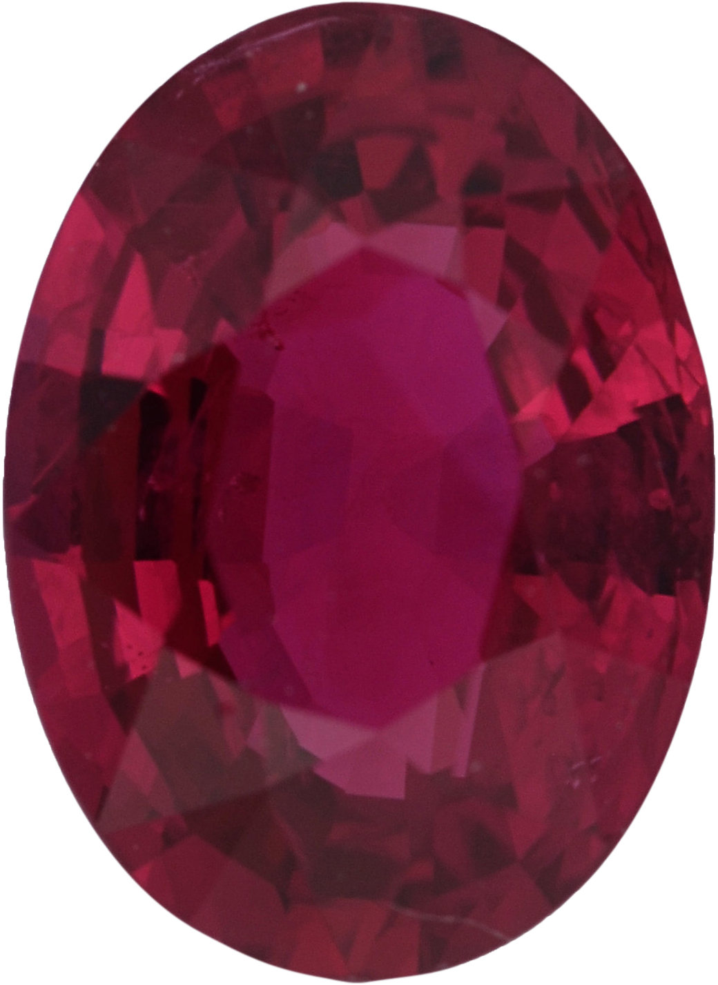 Bright & Lively Loose Ruby Gem in Oval Cut, Deep  Red Color, 7.20 x 5.23 mm, 1.09 carats