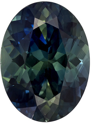 Bright & Lively Oval Cut Blue Green Sapphire Loose Gem, Teal Blue Green, 10.1 x 7.6 mm, 3.24 carats - SOLD