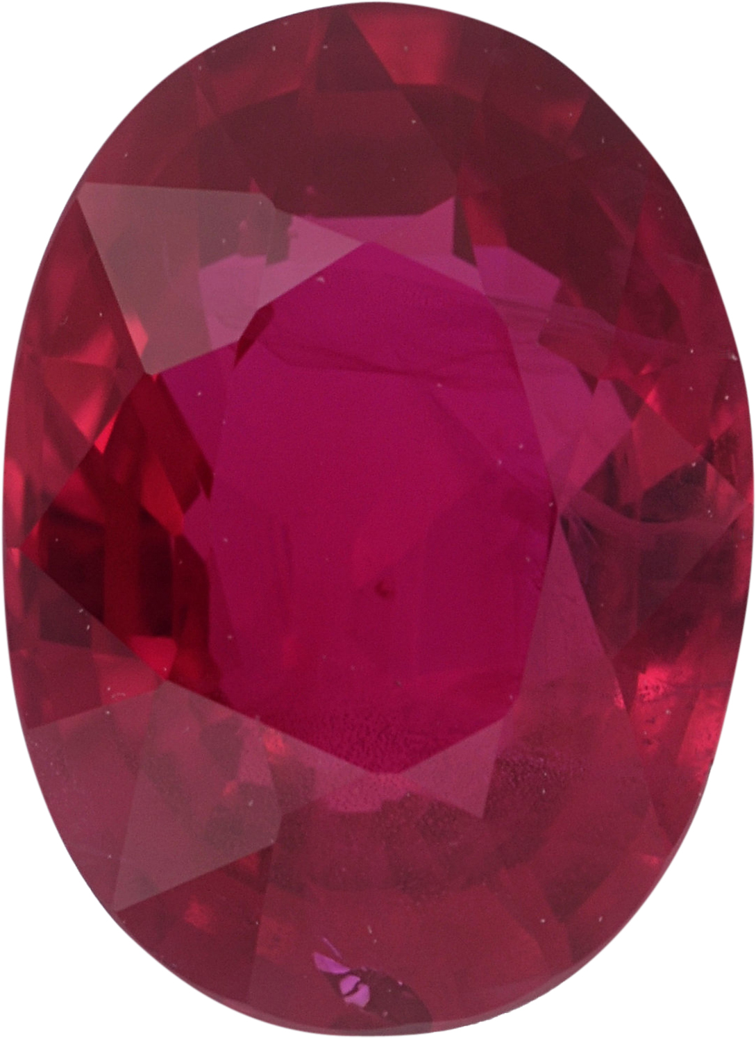 Bright & Lively Oval Cut Loose Ruby Gem, Red Color, 7.47 x 5.45 mm, 1.25 carats