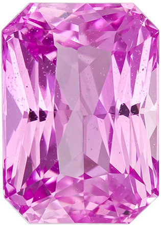 Bright & Lively Pink Gem Sapphire in Radiant Cut, Rich Pure Pink Color in 8.5 x 6.0 mm, 2.78 carats
