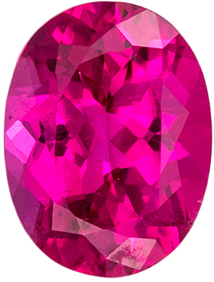 Bright & Lively Pink Tourmaline Loose Gem in Oval Cut, 8.1 x 6.1 mm, Vivid Hot Pink, 1.33 carats
