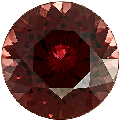 Bright & Lively Rhodolite Genuine Gemstone in Round Cut, 7 mm, Rich Raspberry Red, 1.46 carats