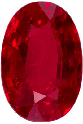Bright & Lively Ruby Genuine Gem in Oval Cut, Open Pure Rich Red, 6.1 x 4.2 mm, 0.64 carats