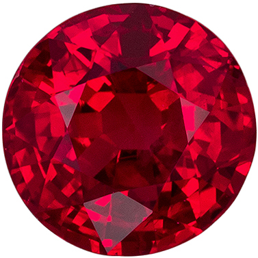 Bright & Lively Ruby Loose Gem, 4.9 mm, Open Rich Red, Round Cut, 0.62 carats