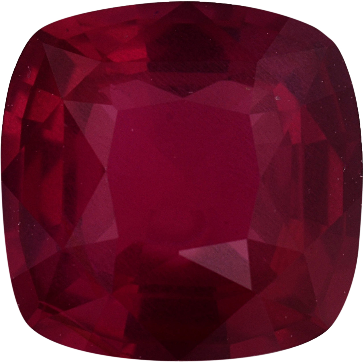 Bright Loose Ruby Gem in Antique Square Cut, Deep Red Color, 6.13 x 6.08 mm, 1.2 carats