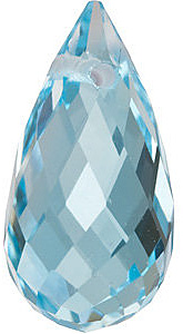 Standard Size Genuine Loose Briolette Shape Sky Blue Topaz Gemstone Grade AAA, 10.00 x 5.00 mm in Size, 2.18 Carats